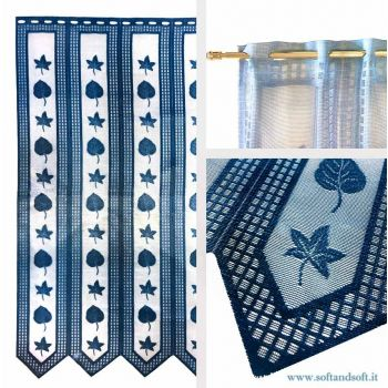 Edera BLU Window blind Tent by meter ready to hang height 150 cm