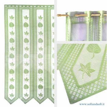 Edera Green Window blind Tent by meter ready to hang height 240 cm 704467