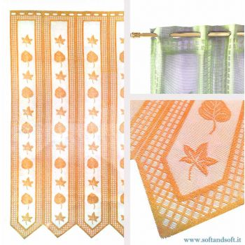 Edera ORANGE Window blind Tent by meter ready to hang height 45 cm