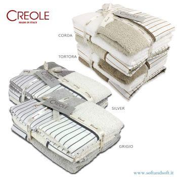 BALZA DENNY Completo Asciugamani 4 Pezzi 400gr/m²