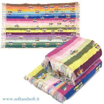GUFETTI porta fortuna Set 2 Asciugamani (1 viso +1ospite) in Spugna di Puro Cotone
