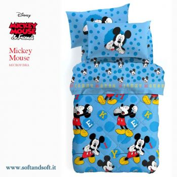 MICKEY MOUSE Duvet for single beds Disney Caleffi Microfiber