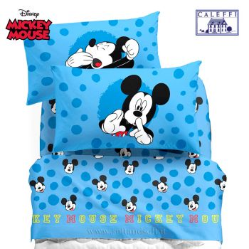 MICKEY MOUSE Sheet set for three-quarter beds Disney Caleffi