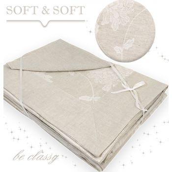 ELITE Table Cloth 12 + Napkins Linen Blend by Armonia Tessile