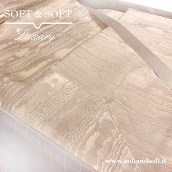 Lenzuola in Pura seta Made in Italy, alta qualità del tessuto e della lavorazione, colore panna