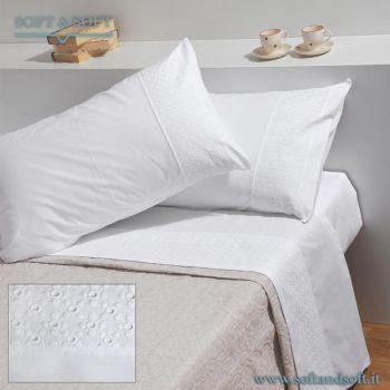 FLOR SANGALLO Pure Cotton Sheet Set for Double Bed