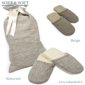 SLIPPER PAIR for women + Cotton Sack
