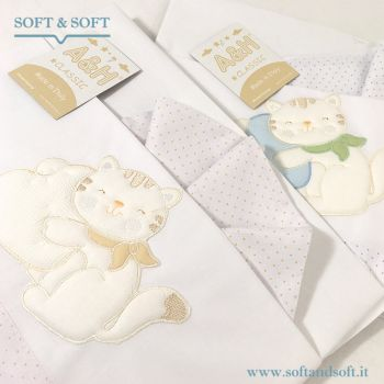 CLASSIC R85 Embroidered Sheet Set for cradle ANDY&HELEN