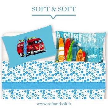SURF Sheet set for single bed pure printed cotton