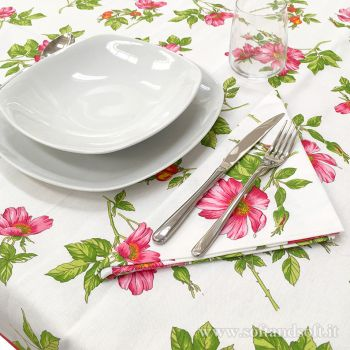 ANEMONE Pure Cotton Table Set  for 8 people Tablecloth+Napkins
