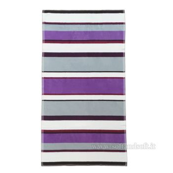 HAPPY STRIPE Telo Mare in Spugna di Puro Cotone cm 90×170