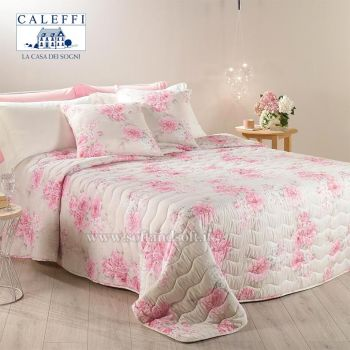 PEONIE Quilted Bedcover for DOUBLE bed 260x270 by CALEFFI