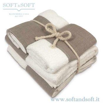 BALZA LINO Completo Asciugamani 4 Pezzi 400gr/m²