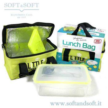 Cestino Pranzo - Lunch Box Set Termico Borsa+scatola pranzo+ blocco ghiaccio
