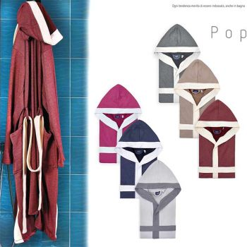 POP Two-tone Terry Cotton Bathrobe