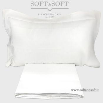 Lenzuola Matrimoniali Bianche Cotone.Lenzuola In Raso Di Puro Cotone Ricamate Bianco E Oro Cm 270x290