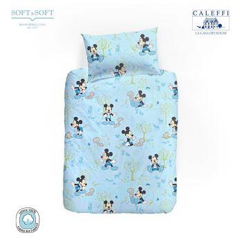 MICKEY BOSCHETTO Completo Copripiumotto per Lettino Sponde Disney CALEFFI