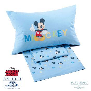 MICKEY BOYS Completo Lenzuola per Letto Singolo Disney CALEFFI