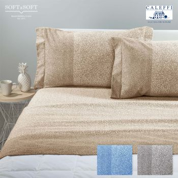 COSMIC Flannel Sheet Set for Double Bed by CALEFFI