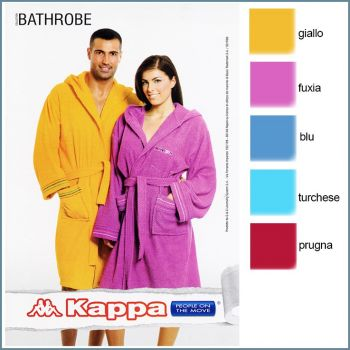 KAPPA Hooded Bathrobe with pockets Size L
