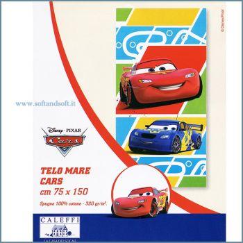 CARS Caleffi Telo mare cm 75x150 Disney puro cotone