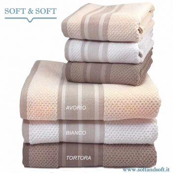 OLIVER 1 + 1 Towel Set Pure Cotton