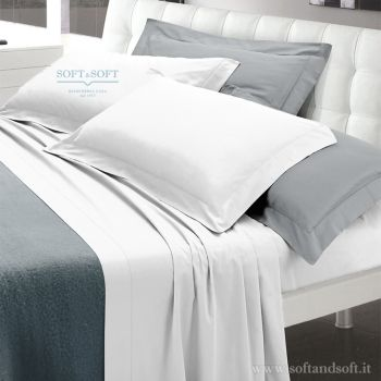 INES Pure Cotton Satin Sheet Set for Double Bed