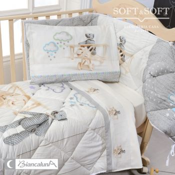 KITI Sheet Set for Cots MISS TERRY BIANCALUNA