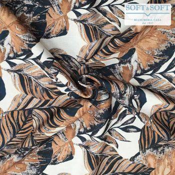 tessuto stampato foglie