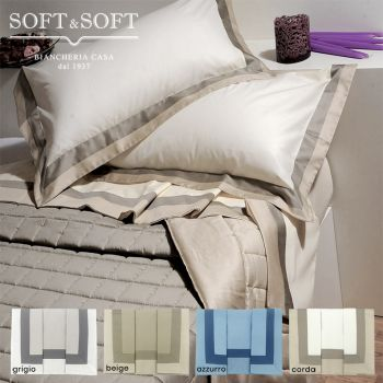 LOUISIANA Sheet Set DOUBLE bed size with wide Satin border