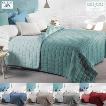 MODERN Quilted Bedcover for double bed microfibre Caleffi