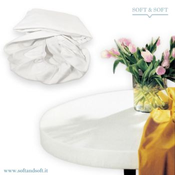 MOLLETTONE soft tablecover for round table diameter cm 180