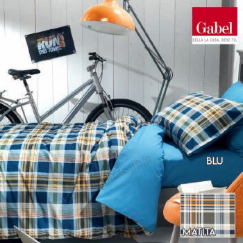 Copripiumino Singolo Gabel.Off Grid Duvet Cover Set For Single Bed In Pure Cotton By Gabel