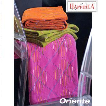 ORIENTE Plaid Pile Happidea - colore ARANCIO