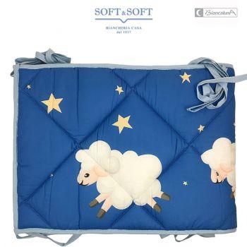 Bumper light blue for cot