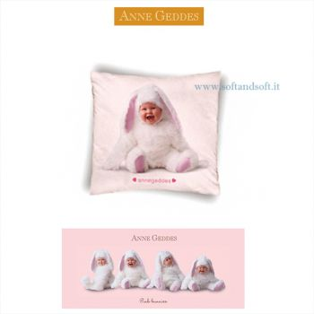 PINK BUNNIES Cushion cm 40x40 ANNE GEDDES