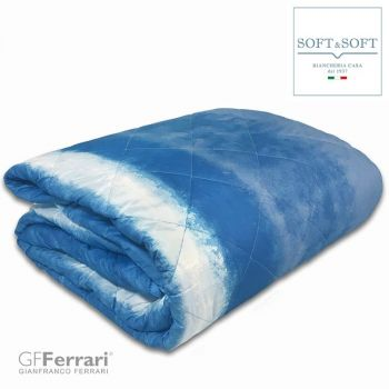 PRIMAVERA 6F Geometric Quilted bedcover for Double bed