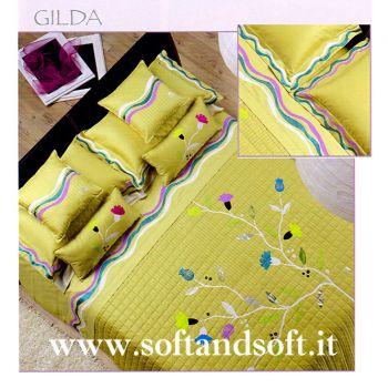 GILDA Completo lenzuola per letto matrimoniale in Raso - Caffi