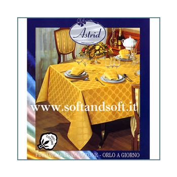 ROMINA Satin Tablecloth for 8 - oval