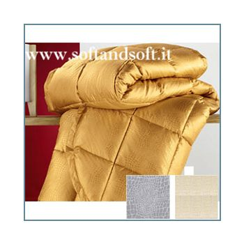 COCCO Comforter for double bed goose down and Silk Made in Italy Best Quality