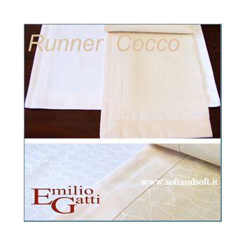 RUNNER/Striscia COCCO Misto Lino cm 50x150 Gatti Emilio