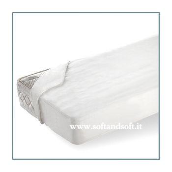 Jeans Coprimaterasso in puro cotone per letto matrimoniale cm 180x200