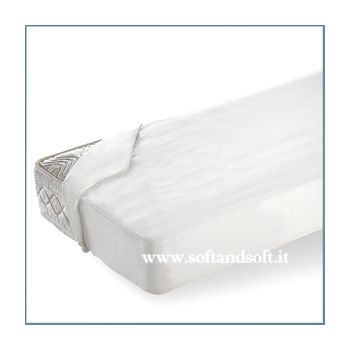 Jeans Mattress cover for three-quarter beds 120x200 cm