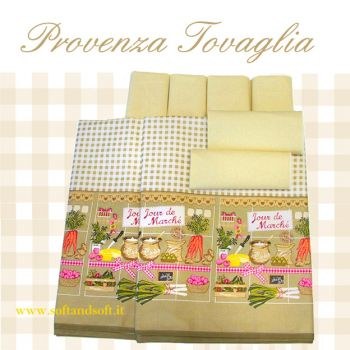 PROVENZA Table cloth with 12 napkin cm 140x240