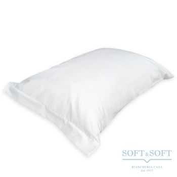 SOFFIO Pillowcase Pure Cotton White Fabric