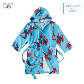 SPIDER-MAN Hooded Bathrobe for baby Caleffi