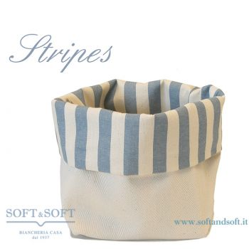 Stripes Bread basket pure cotton Made in Italy