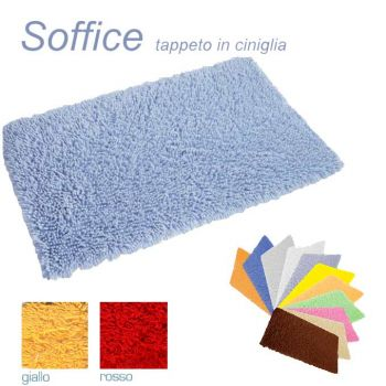 SOFFICE Carpet for Bathroom cm 55x90 100% Cotton