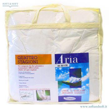 Piumino Sintetico per letto matrimoniale tessuto in cotone interno in poliestere confezionato nella sua custodia utile per riporlo