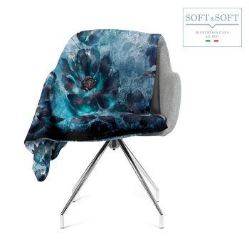 BELLAGIO coperta in pile stampa digitale per letto o divano cm 210x240